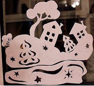 Como puedo decorar las ventanas en navidad ~ cositasconmesh