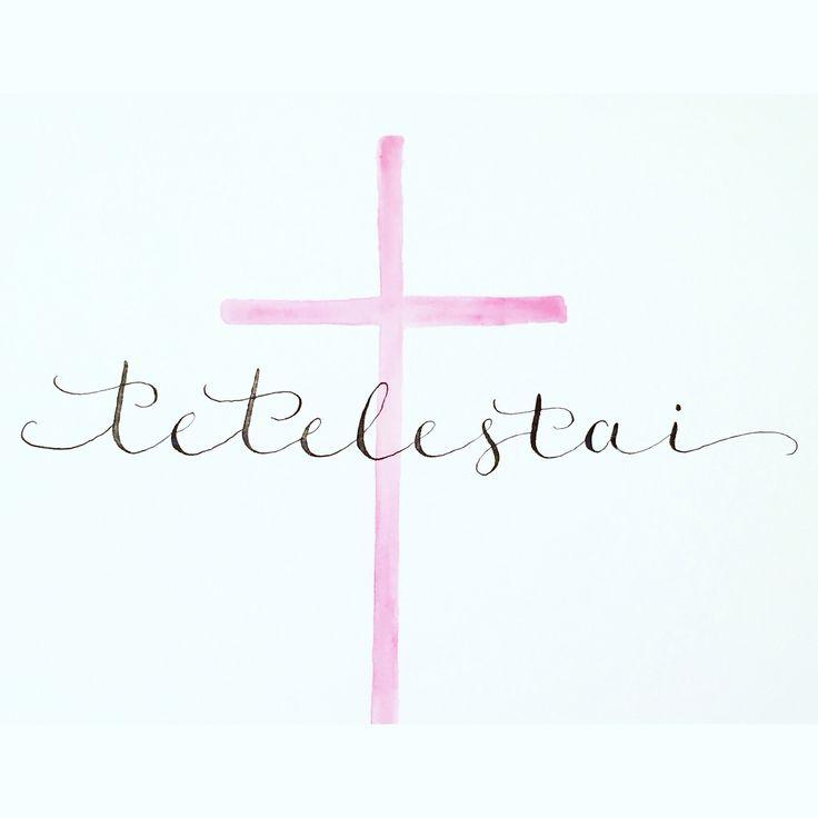 Tetelestai Easter design. Original Design by Ginny Melby at Desert Sage. Email for custom order! Melbydesigns@gmai…