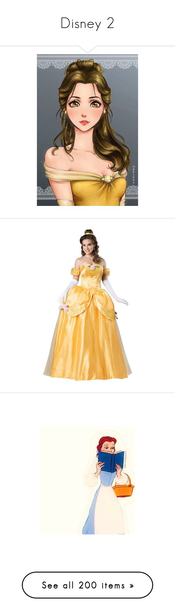 """Disney 2"" by selene-cinzia ❤ liked on Polyvore featuring disney, anime, costumes, dresses, halloween costumes, princess costumes, adult princess costume, adult women costumes, princess belle costume and women's halloween costumes"