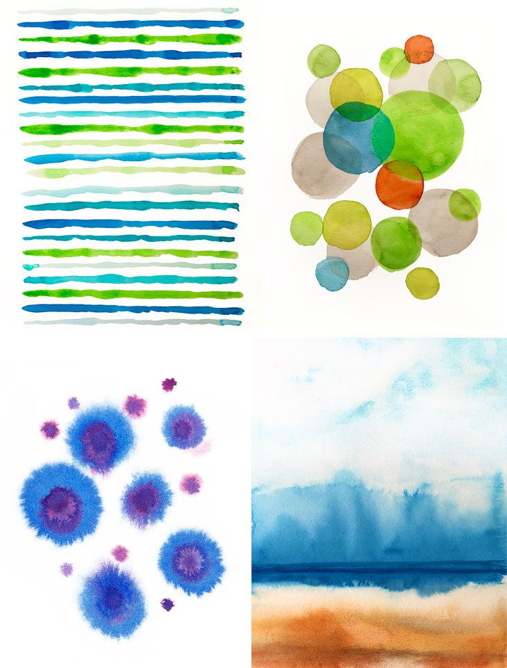 Simple Abstract Watercolor Painting For Beginners Abstract