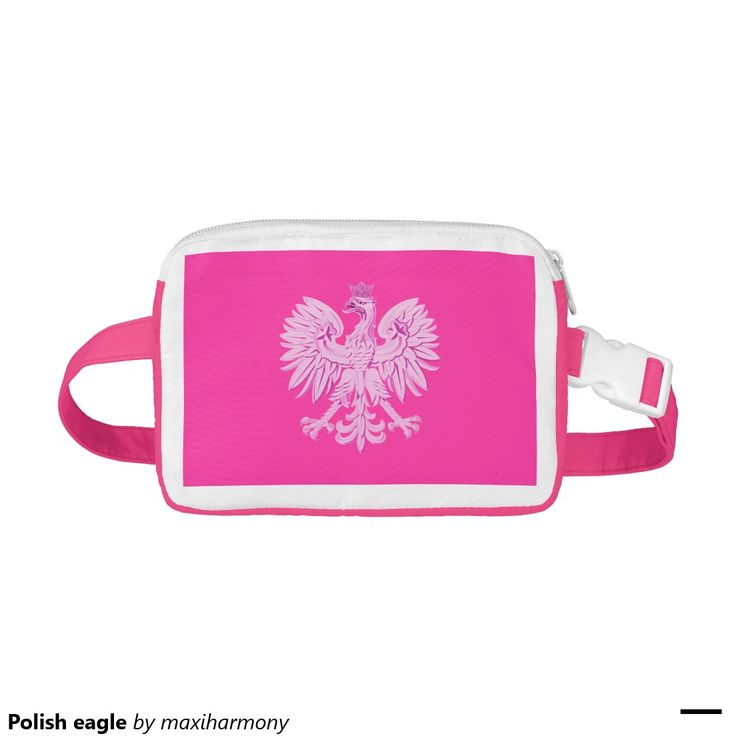 Polish eagle nylon fanny pack