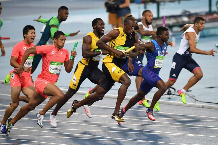 Usain Bolt wins the Men's 4x100m Relay Final during the athletics event at the Rio 2016 Olympic Games - Irish Mirror Online