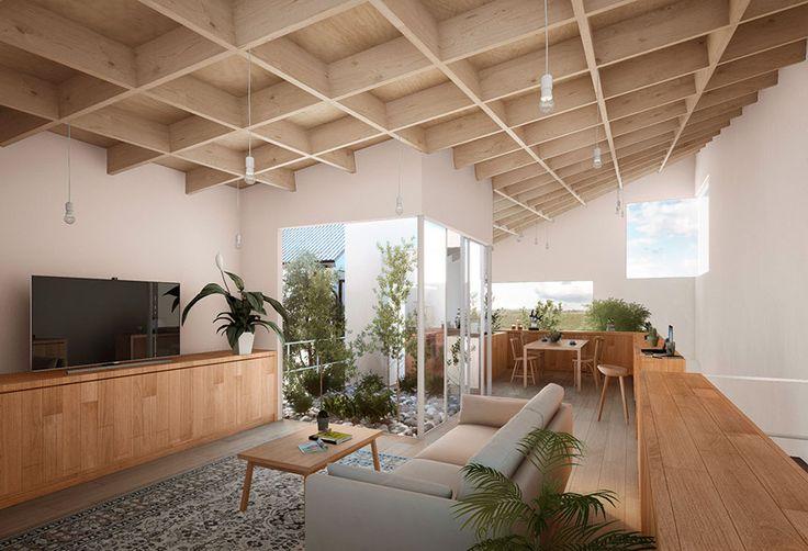 1階は寝室や水廻りを設け、二階には奥行きのある一切壁がない伸び豊かなLDKを設け、開放的で家族全員が集まれる空間を作りました。