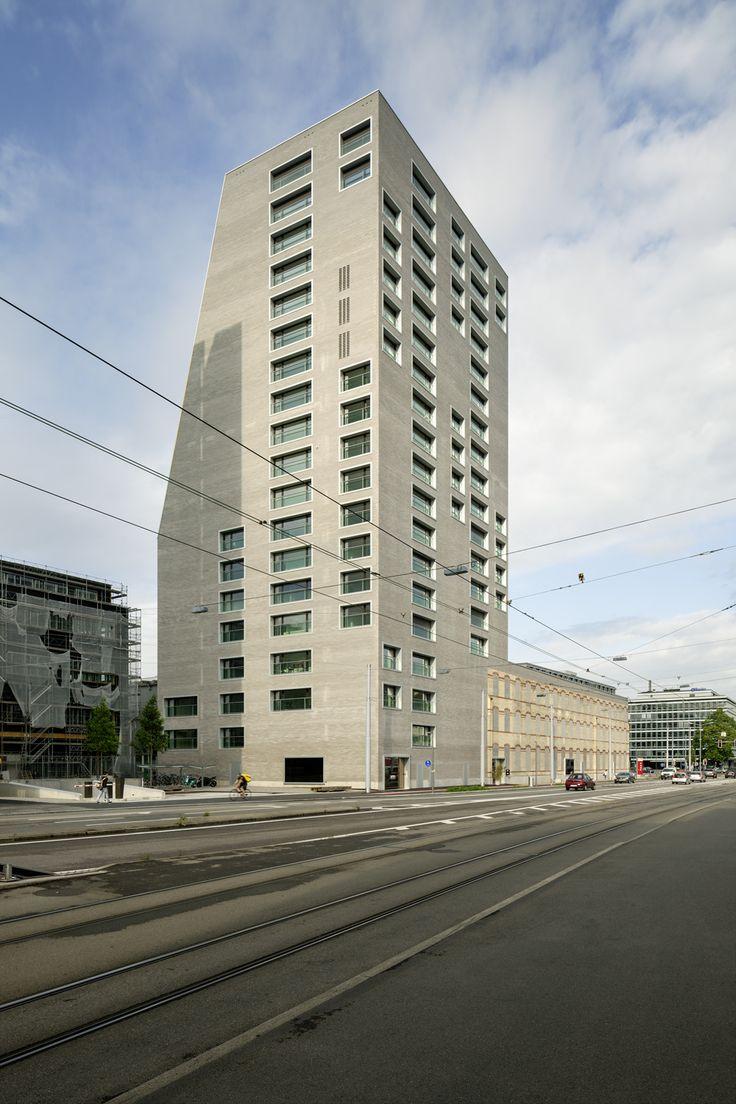 Winner Silver / Kategorie Wohnungsbau / Geschosswohnungsbau: Escher Terrassen, Zürich, E2A Piet Eckert und Wim Eckert Architekten ETH BSA SIA AG, Ansicht Hardturmstrasse, © Jan Bitter, Berlin