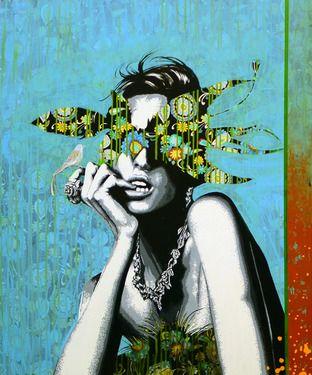 """Saatchi Online Artist Raquel Gralheiro; Painting, """"Espalha brasas  (Blindfold)"""" #art"""
