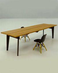 パラレルテーブル 空間に合わせてデザインした全長3mのダイニングテーブル 模型