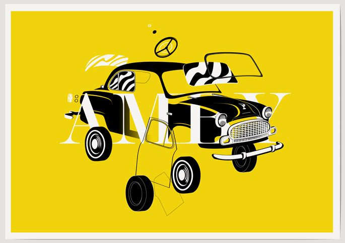 AMBY   Kunal attempts to capture a fresh representation of the iconic Indian design cult classic - the Hindustan Ambassador, often times lovingly with a hint of nostalgia called the Amby.  #ThisIsMyArt ● #ArtOfOurTimes ● Own it & #SupportTheArtist   Theme - MACHINES   Artist - KUNAL ANAND    A5 / A4 / A3 / A2    ☏ (+91) 22 26550982   
