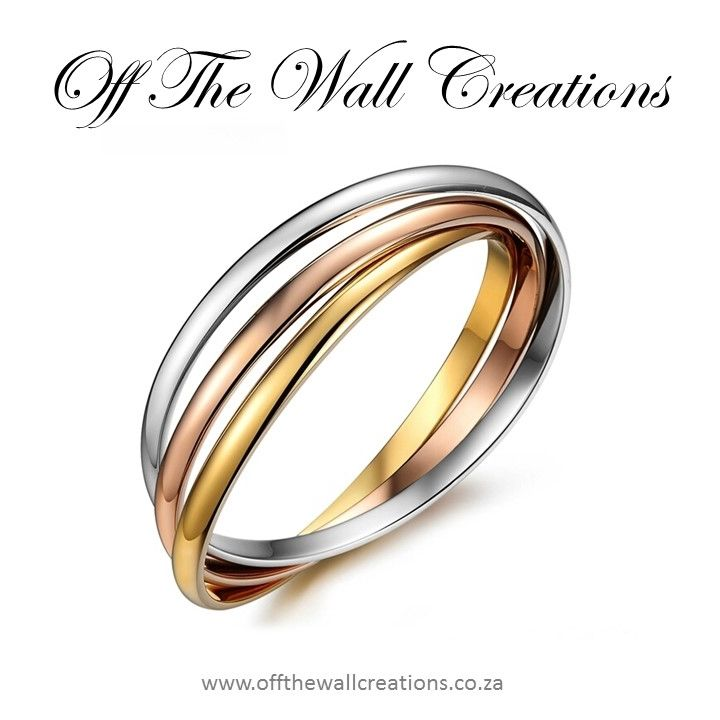Tripple Gold Interlinking Bangles On Line Orders: https://www.offthewallcreations.co.za/collections/bangles/products/bangle Price: R350