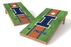 Illinois Fighting Illini Single Cornhole Board - Field