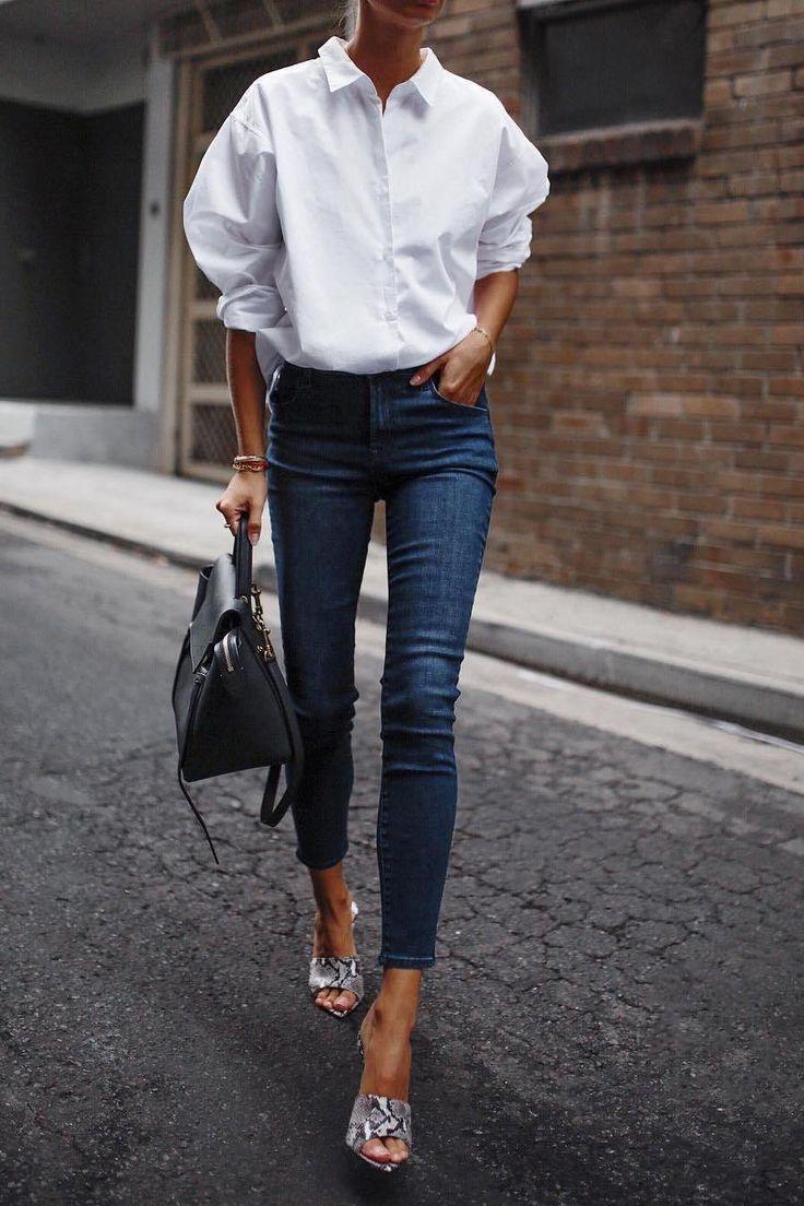17 Einfache Denim-Outfits, die Sie jetzt kopieren können #jeans #outfits #ootd #fashion