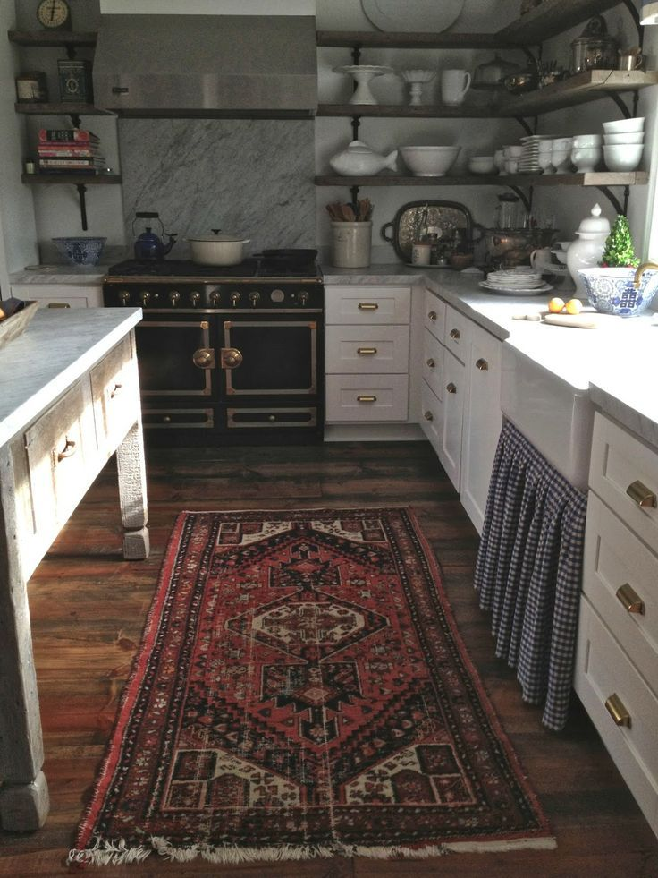 pureblyss: simply-divine-creation: » Grace Happens that rug. and floor. and counter. and sink. and oven. and open shelving. goodness grac...