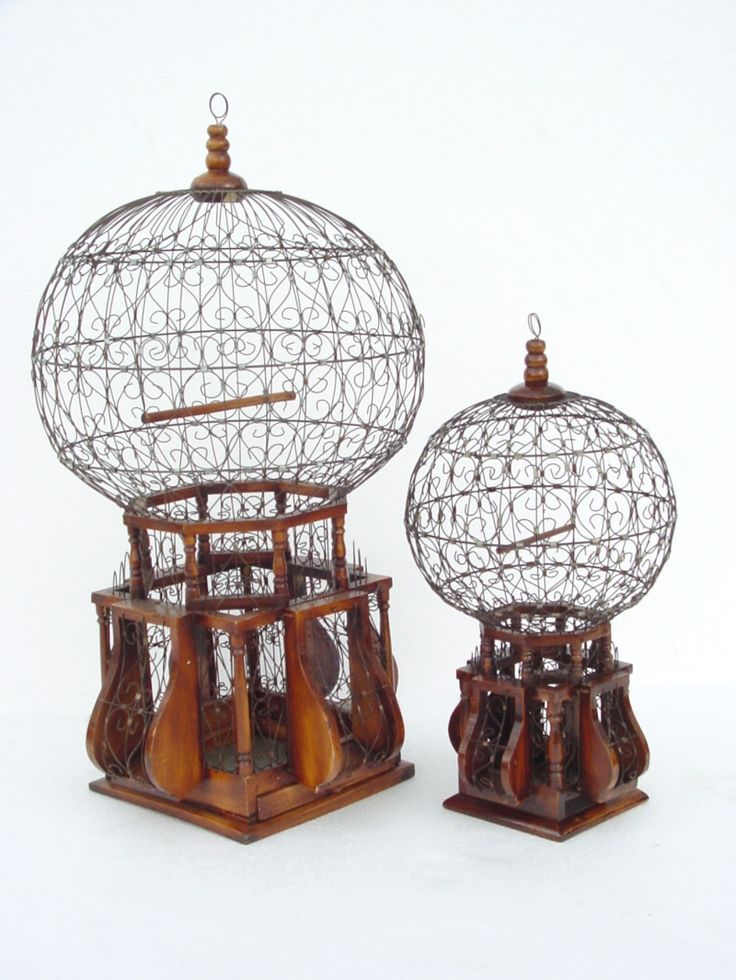 Victorian Balloon Birdcage ~ Grandma had one that was painted white.