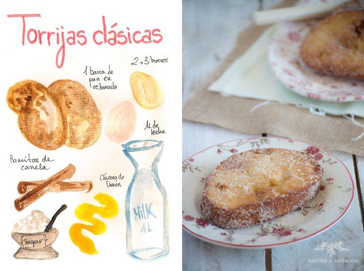Torrijas clásicas de Semana Santa, recetas de Andalucía, recetas de cuaresma, recetas tradicionales, postres clásicos, postres de semana Santa
