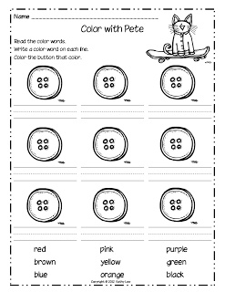 pete the cat and his four groovy buttons coloring page - 17 best images about picture book printables worksheets on