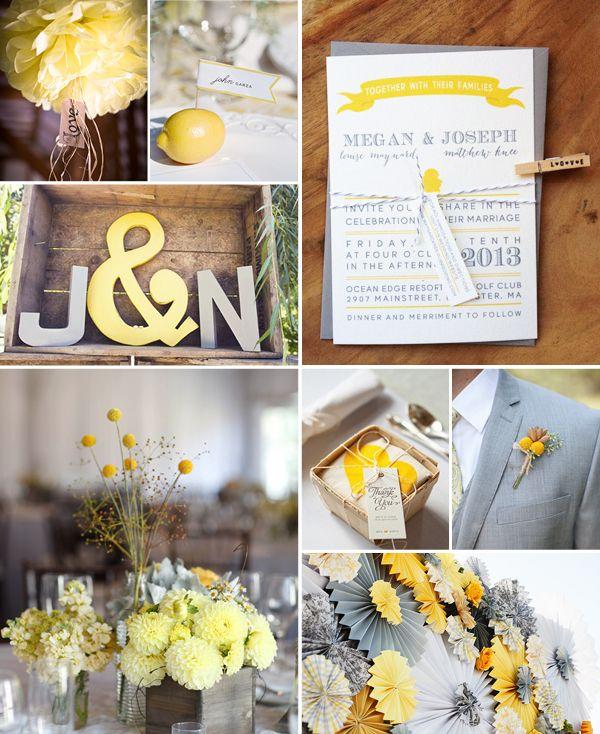 Great Ideaboard Gelb und Grau macht Lust auf Fr hling Diy HochzeitHochzeit DekoIdeen