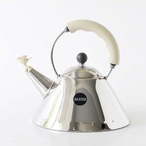 £85.50 - Alessi Hob Kettle, White Ivory Trim, Bird Whistle, (9093 WI): Amazon.co.uk: Kitchen & Home