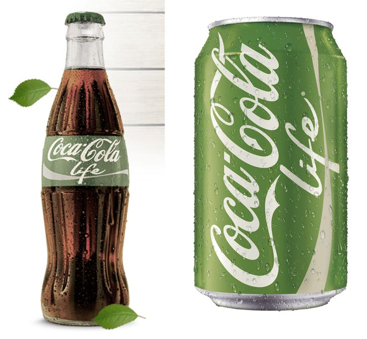 The new Coca Cola Green http://logonews.fr/wp-content/uploads/2013/07/Cocacola-Life.jpg