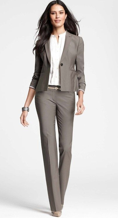 Tan pant suit for women
