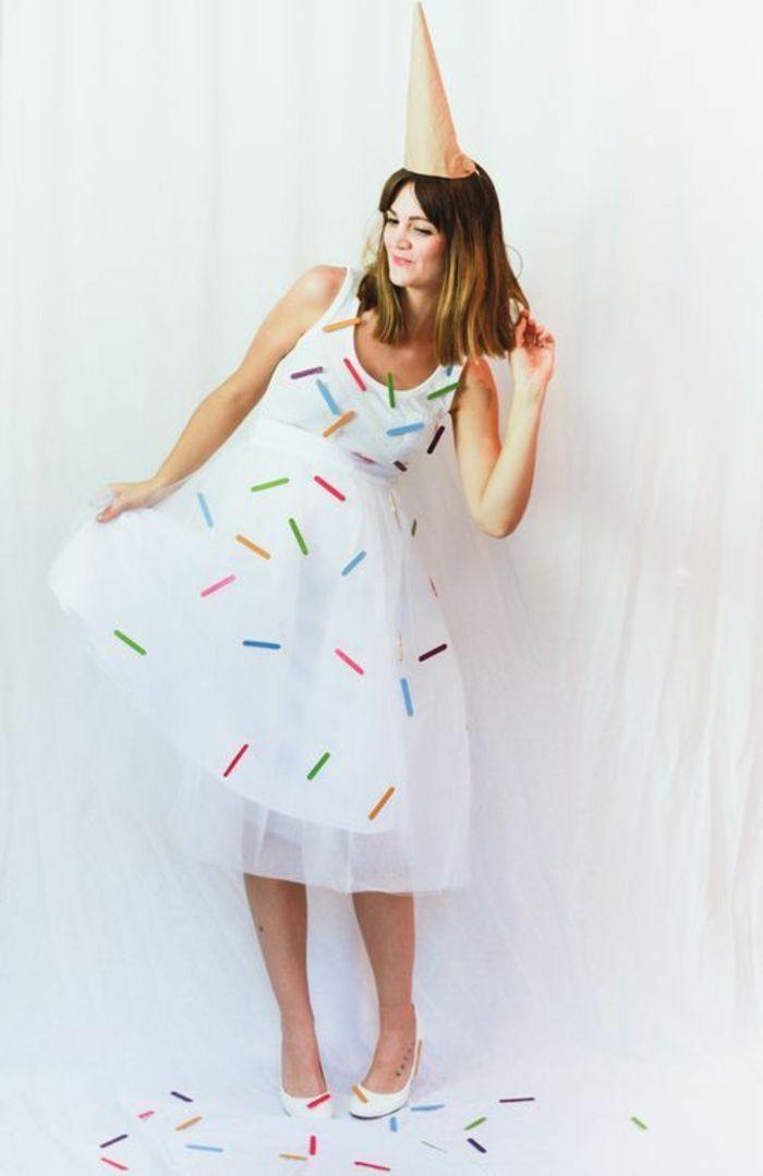 ein Kleid wie Eis Faschingskostüme Ideen zum Selbermachen – #ein #Eis #Fasching…