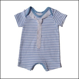 Lohla - Clothes - Blue & White Onesie with Tie - R80