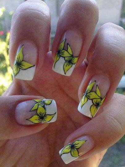 15 Diseños de Uñas con Flores #decoracion_unas #diseno_unas #unas_decoradas #nails #nail_art #nail_art_designs