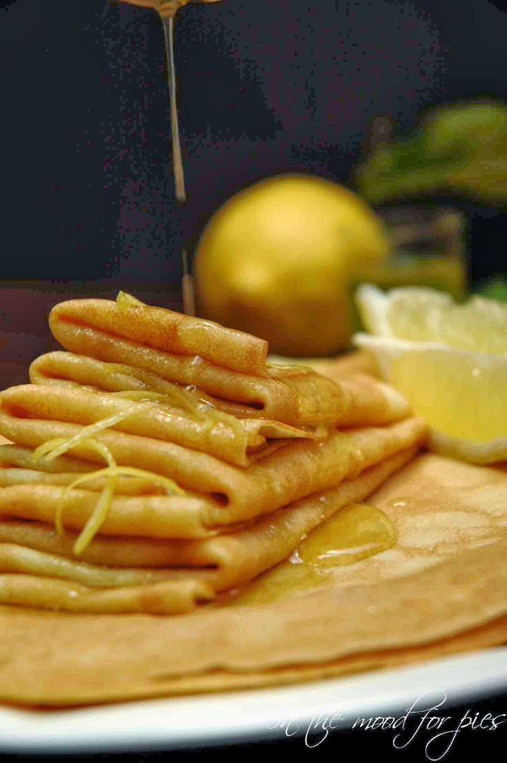 In the mood for.....: Crêpes al limoncello
