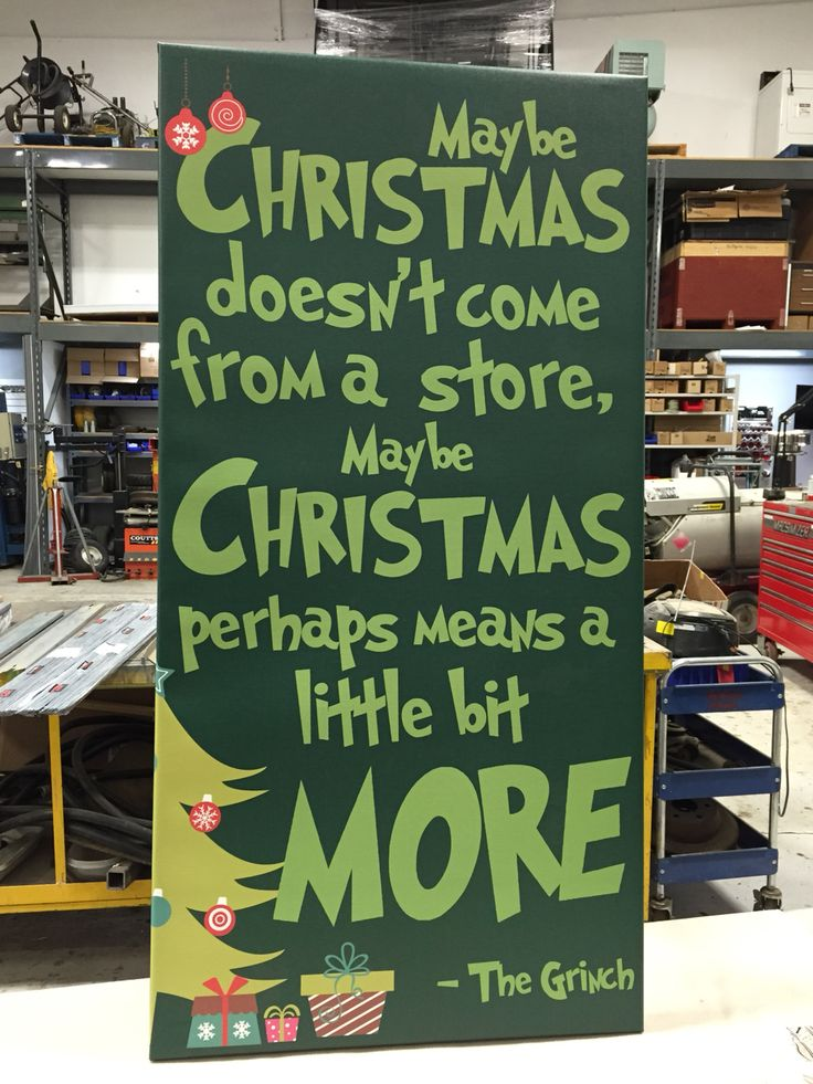 Christmas Canvas The Grinch Who Stole