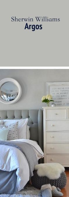 If you need a medium gray, then Sherwin Williams Argos is a great choice! Wonderful gray paint color.