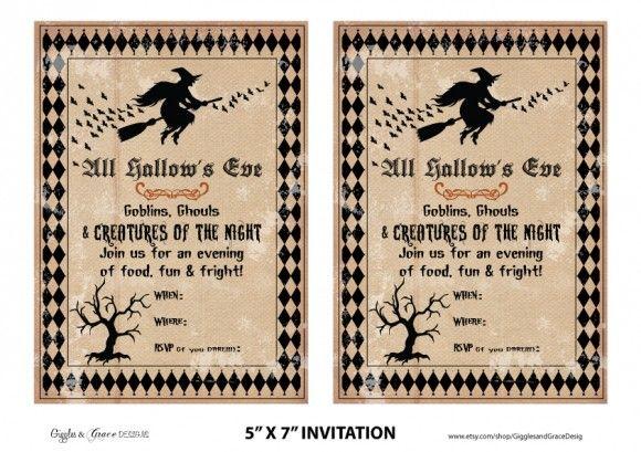 free-halloween-party-invitation: Halloween Invitations, Vintage Halloween, Printable Halloween, Invitations Free, Parties Printable, Halloween Parties Invitations, Free Halloween, Free Printable, Halloween Party Invitations