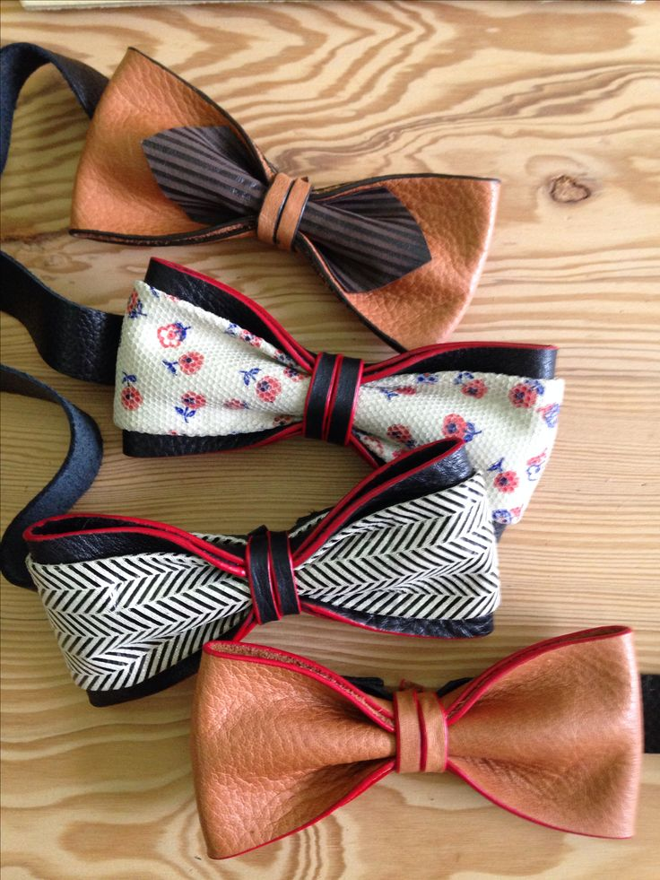 Leather bow tie!!                                                                                                                                                                                 More