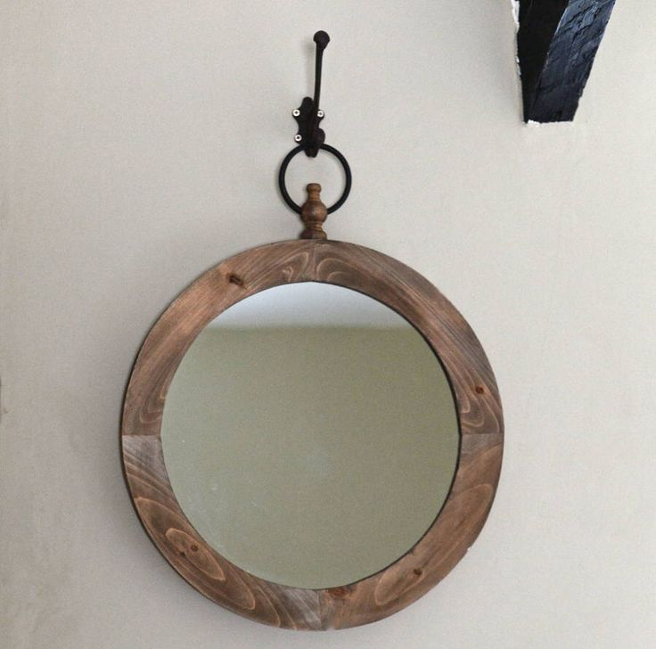 I've just found Refectory Mirror. A gorgeous large round mirror with a decorative metal ring (hook not included).. £62.00