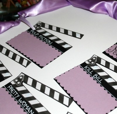 Name cards for a movie-themed wedding. LOVING this idea right now!