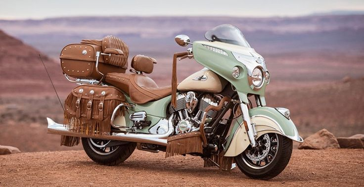 indian motorcycle's roadmaster classic gets the full leather treatment