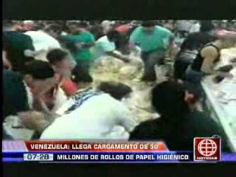 América Noticias - 190513 - Venezuela: llegó cargamento de papel higiénico