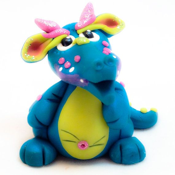 Polymer Clay Dragon 'Limery'  Limited Edition Figurine by KatersAcres | Collect & adopt your own polymer clay dragon today