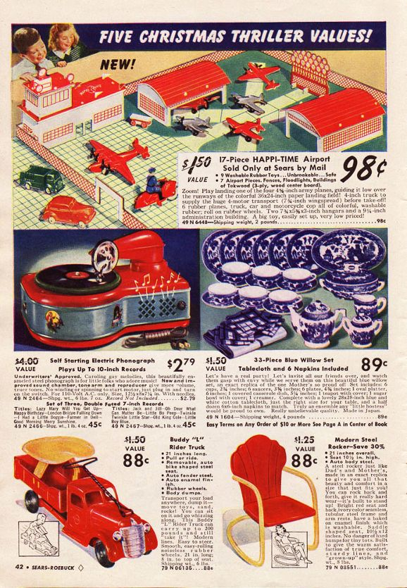 Toys At Sears : Sears christmas catalog toys vintage ads leisure
