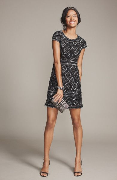 short beaded dress In store now!
