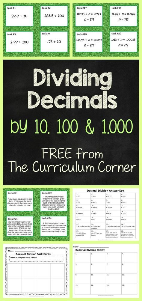 44015 best math for fifth grade images on pinterest teaching dividing decimals by 10 100 or 1000 fandeluxe Gallery