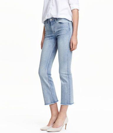 Kick Flare Ankle Jeans   Hellblau   Damen   H&M DE