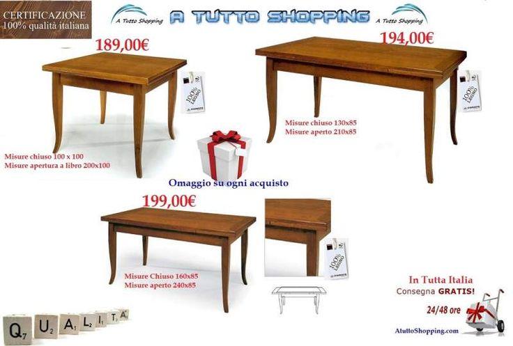 Tavoli in legno di qualità