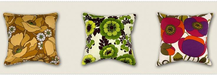 Gorgeous vintage fabric cushions.