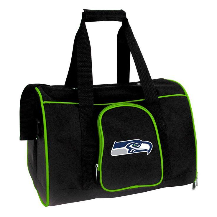 NFL Seattle Seahawks Pet Carrier Premium 16 in. Bag in Green