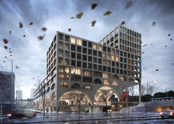 Designed by Lelylaan-Delflandlaan, Amsterdam. Combining entrepreneurship with affordable housing, West Beat is the winning project for a creative complex in Nieuw-West, Amsterdam. The building...