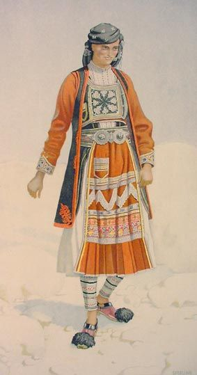 TRAVEL'IN GREECE I Peasant Woman 's Costume (Epirus, Souli)