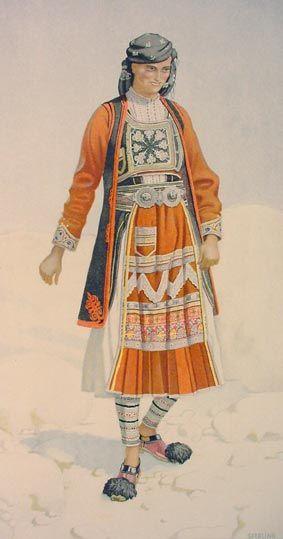TRAVEL'IN GREECE I Peasant Woman 's Costume (Epirus, Souli)