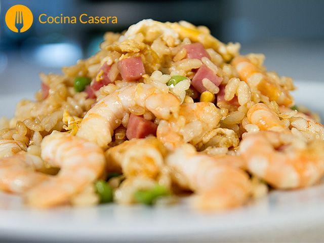 Arroz cantonés Con esta receta y vídeo de nuestro arroz cantonés, también conocido como arroz frito o arroz tres delicias. Os presentamos un plato oriental