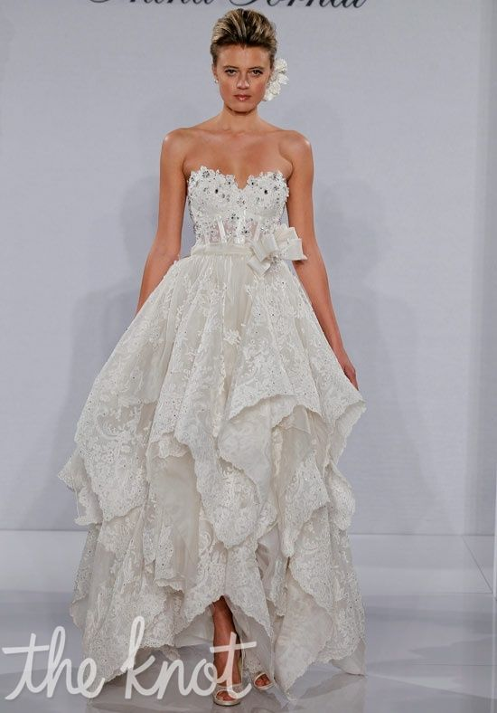 Unique Love this for an outdoor wedding Stunning Pnina Tornai for Kleinfeld