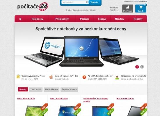 Počítače 24 - eshop s repasovanými notebooki včetně záruky.