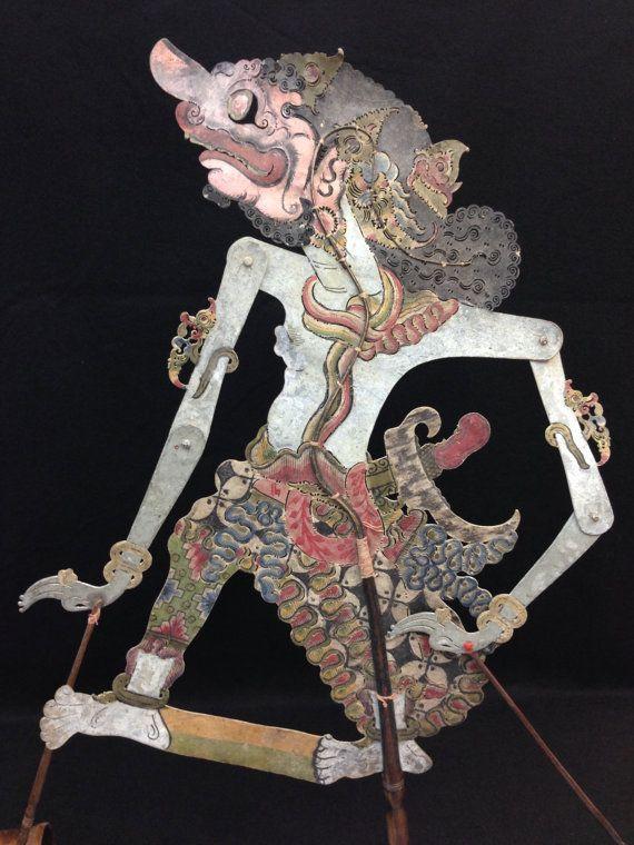 Wayang Kulit Shadow Puppet Dushasana from by EthnicArtandJewelry, $129.95