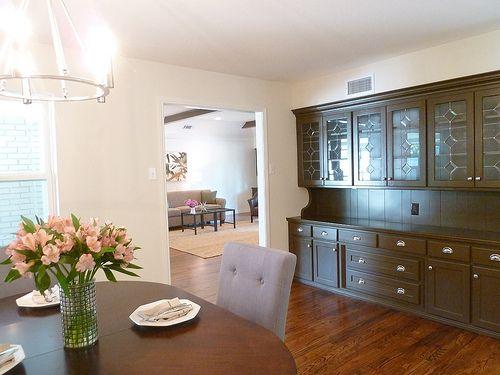 Renovation 3 open floor plan dining room built in for Built in dining room buffet ideas